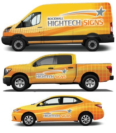 Vehicle Graphics & Wraps - Rockwall Hightech Signs