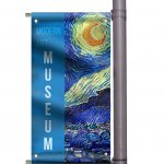 Glossy, Matte, Mesh Feather Flags Trade Show Booths