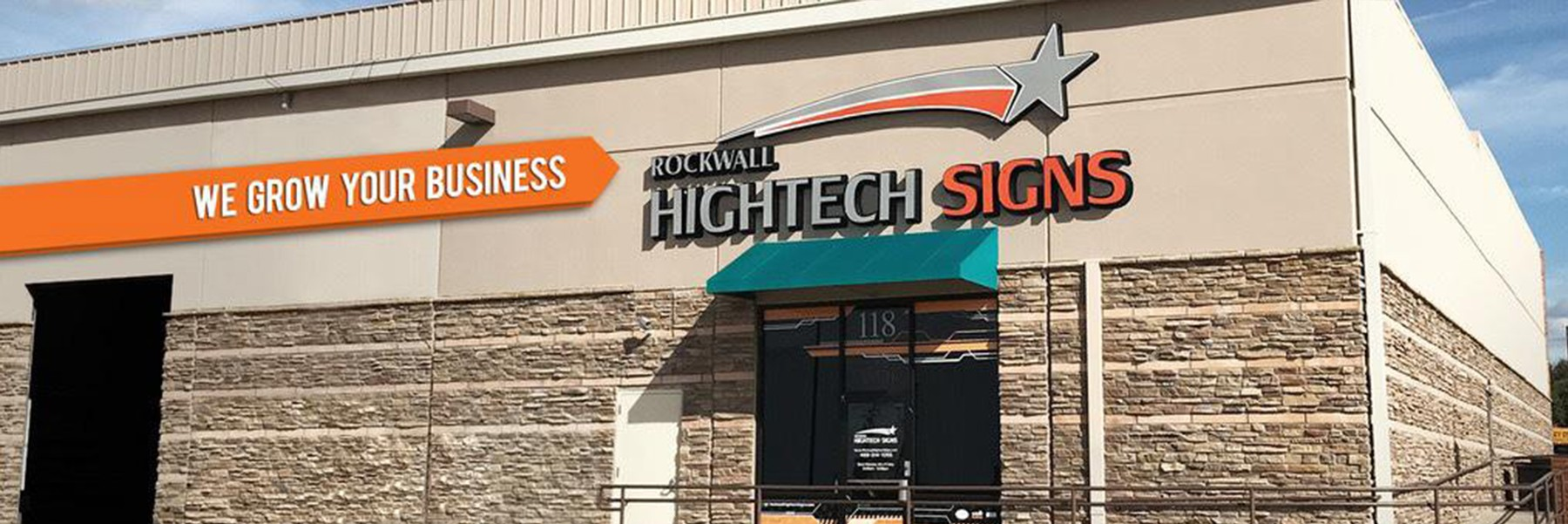 Rockwall Hightech Signs Store Front